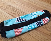 Baby Carrier Wrap =  Ahoy Matey Mutiny on the bunting Turquoise