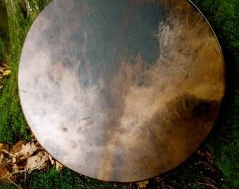 18 inch dark Reindeer skin drum