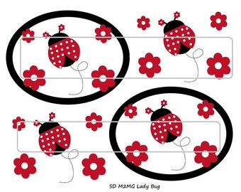 "DIY Printable ""M2M Lady Bug"" Shrinkable Digital Images (JPEG File)"