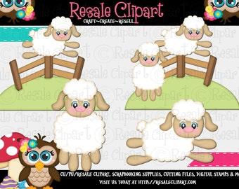 Lil Sheep 1 Clipart (Digital Download)