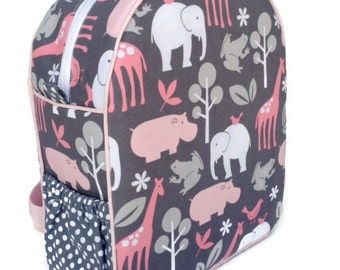 Girls Backpack, Toddler Backpack, Preschool Backpack, Zoology Backpack, Pink Backpack, Elephant Backpack, Quilted Backpack