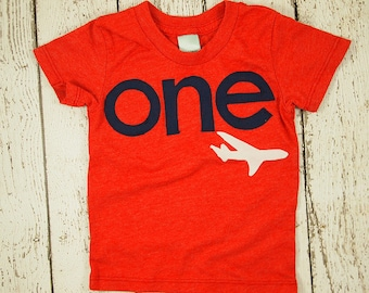 Airplane shirt Boys Birthday Tee Organic Blend Toddler Airplane birthday