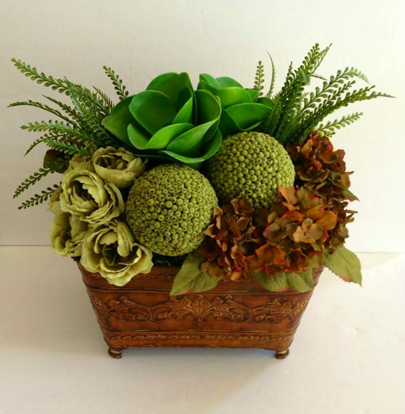 Artificial succulent hydrangea rose moss ball traditional