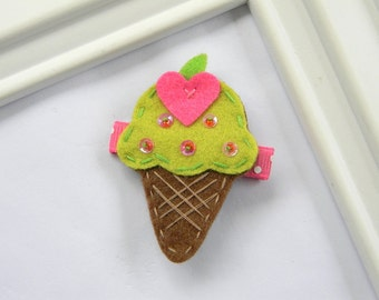 Ice Cream Clippie - Ice Cream Hair Clip