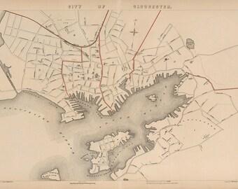 1891 Map of Gloucester, Massachusetts