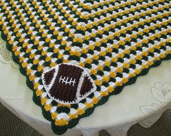 Crochet Pattern Green Bay Packer Afghan : Popular items for packers on Etsy