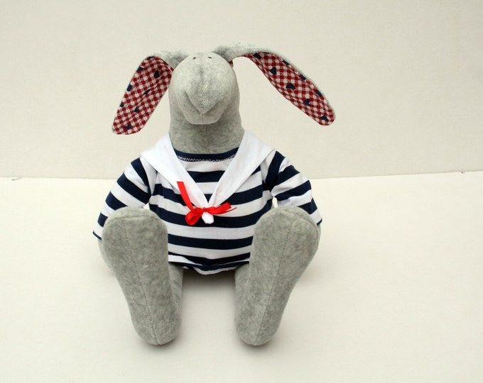 Sailor Bunny, Grey Plush Rabbit in blouse