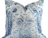 Schumacher Timothy Corrigan Cap Ferrat Pillow Cover, Toss Pillow, Throw Pillow, Accent Pillow