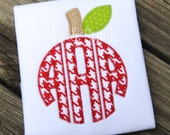 Apple Monogram Topper Applique Design Machine Embroidery INSTANT DOWNLOAD