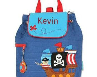 Personalized Boys Diaper Bag or Backpack Stephen Joseph Pirate Ship