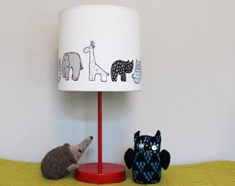 Nursery Lampshade - nursery lamp - childrens lampshade  - kids lampshade - animal lampshade - cute lampshade - table lampshade - lamp shade