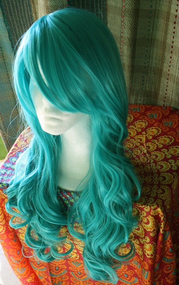 Blue Hair Wig Cloud9Jewels Etsy Shop