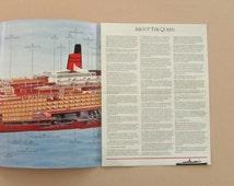 QE2 1984 Voyage Scrapbook, Queen Elizabeth 2 Transatlantic Crossing