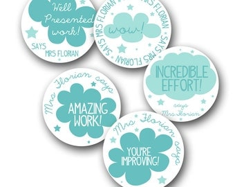 CLOUDIES Personalized stickers for Teachers