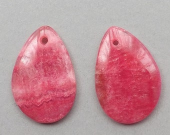 Pink Rhodochrosite gemstone Earring beads,8g, 30mmX20mm