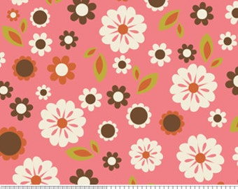 04287- Zoe Pearn  for Riley Blake Indian Summer Flowers in pink  C2611 - 1 yard