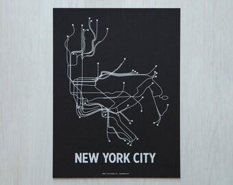 NYC Sm Screen Print - Black/White