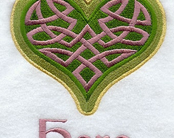 Celtic Knot Heart HERS Embroidered Flour Sack Hand/Dish Towel