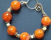 "Honey Agate Bracelet // stunning // gemstone bracelet // 8""L"