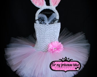 Easter Bunny Tutu Dress Easter Outfit Bunny Costume Bunny Dress First Easter Easter Tutu Dress Bunny Tutu Bunny Rabbit Dress Easter Bunny