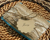 Burlap Lace Will You Be My Bridesmaid Invitation reserved for Julie Brink