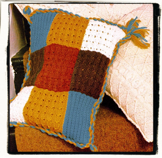 Instant Download PDF Easy Beginners KNITTING PATTERN to make a Patchwork Samp...