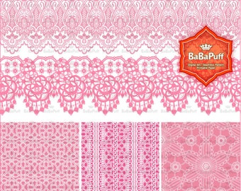 8 Lace Borders & 6 Pattern Clip Art. Personal and Small Commercial Use. BP 0805