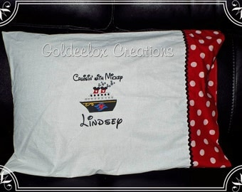 Autograph Pillowcases for Disney Cruises Personalized Made To Order