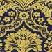 Gilt Trip - Navy Damask with Metallic from Dear Stella