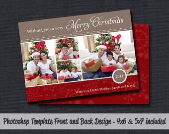 INSTANT DOWNLOAD - Christmas Template (Christmas #34) Photographer Photoshop Template