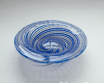 Mini Dish - Blue Gray stripe : DISASTER RELIEF