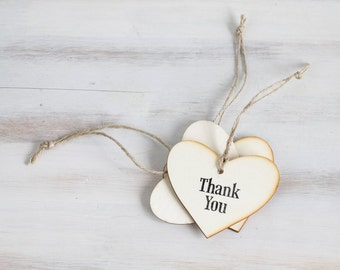 Custom Wedding Hearts Wedding Favors Rustic Wedding Heart Favors Rustic wedding Wood favors Thank you favors Bridesmaids Gifts Heart Tags
