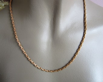 Vintage 60's Raw Brass Flat Cable Chain 6x3 mm 10Ft.