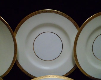 Art Deco Mintons China of England H3618 (6) Dessert Plates