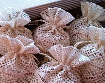 Favors, 60 Wedding favor bags, 60 lace favor bags