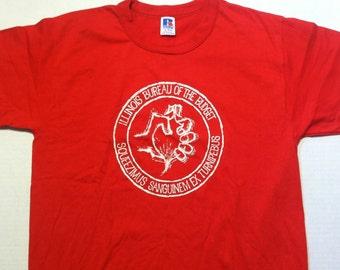 Vintage 1980's Illinois Bureau of the Budget t-shirt, medium