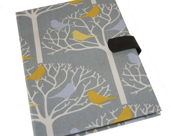 Nook Kindle Samsung Tab 3 Asus Tablet Case Ipad Case Yellow Birds on Branches Case iPad Cover Magnetic Closure