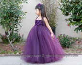 RUSH...Reserved listing for mahwashsiddiqui: Eggplant with red hydrangeas in size 4t