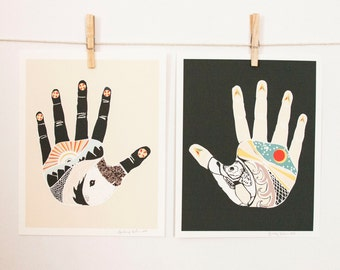The Something Hand and The Nothing Hand, art print