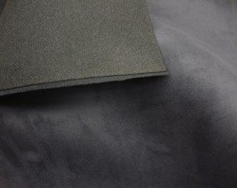 "Foam Charcoal Suede Stretch Headlining Foam Backed Fabric 60"" Wide by the yard"