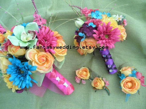 5 Pc Set: Island Beach Bouquet For Tropical Destination
