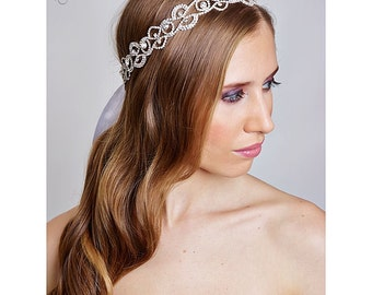 SWARVOSKI wedding bridal crystal head piece
