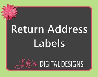 Return Address Labels (Avery 5160) to Match any Design by Life's Digital Designs Printable Customizable