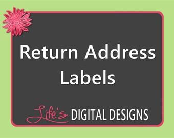 Ocean beach return address labels turquoise avery template for Design return address labels free