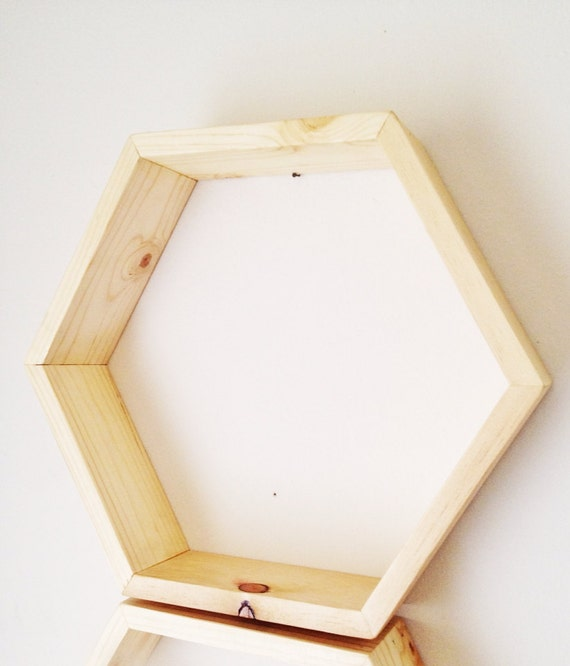 One Hexagon Shelf Honeycomb Shelves Modern By Ollieandpenny