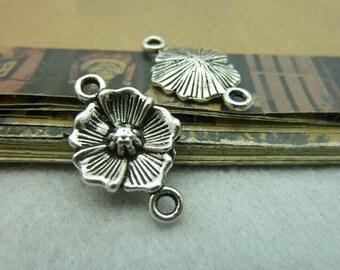 20pcs 15x24mm The Flower  Silver Color Retro Pendant Charm For Jewelry /Pendants C5794