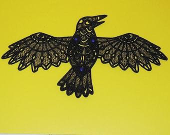 Lace  3-D Raven