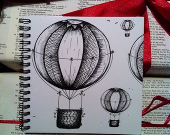 Hot Air Balloons Notebook, Vintage