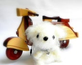 Crochet amigurumi dog - Yuki MochiQtie - Mini size Amigurumi stuffed animal toy doll