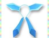 Glaceon Ears Headband - Fleece Anime Geek Gift Pokemon Blue Cute Kawaii Cosplay Ears Adult Teen Child